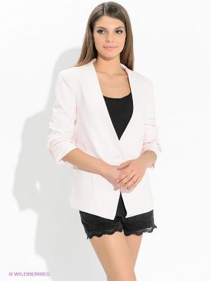 Пиджак Oodji. Цвет: бледно-розовый