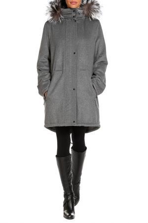 Пальто Izeta. Цвет: серый
