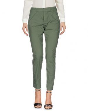 Повседневные брюки LOCAL APPAREL. Цвет: зеленый-милитари