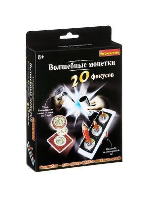 Фокусы Волшебные монетки 20 фокусов. BONDIBON. Цвет: черный, бежевый, серебристый