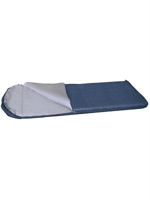 Спальный мешок-одеяло с подголовником Карелия 450 XL Nova tour. Цвет: синий