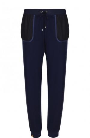 Спортивные джоггеры с полупрозрачными карманами Monreal London. Цвет: синий
