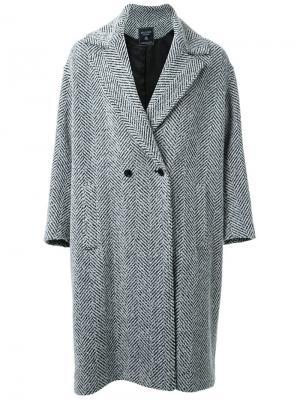 Двубортное пальто Fad Three. Цвет: чёрный