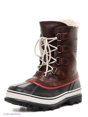 Ботинки SOREL. Цвет: черный, коричневый