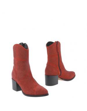 Полусапоги и высокие ботинки GAIA D'ESTE. Цвет: красный