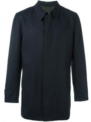 Пальто с потайной застежкой Corneliani. Цвет: синий