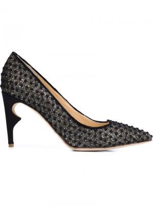 Туфли Morier на контрастном каблуке Jerome Rousseau. Цвет: чёрный