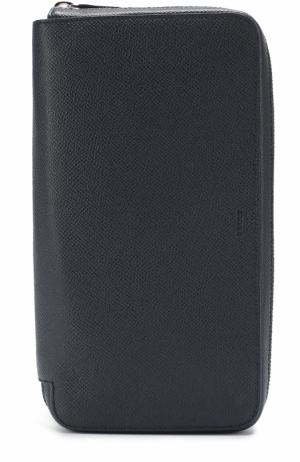 Кожаный футляр для документов с отделениями кредитных карт Bally. Цвет: темно-синий