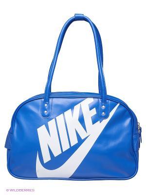 Сумка HERITAGE SI SHOULDER CLUB Nike. Цвет: синий, белый, темно-синий