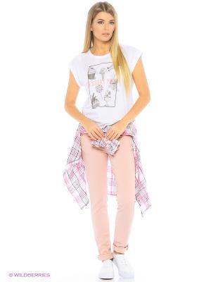 Джинсы Pink Woman. Цвет: розовый