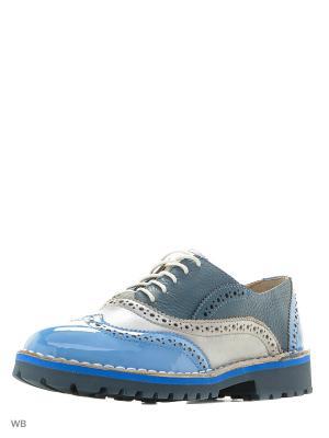 Туфли renne. Цвет: голубой