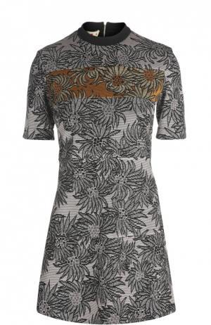 Вязаное платье Marni. Цвет: серебряный
