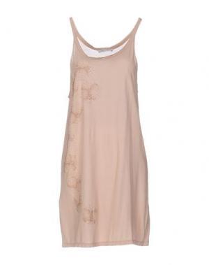 Короткое платье AMBRE BABZOE. Цвет: песочный