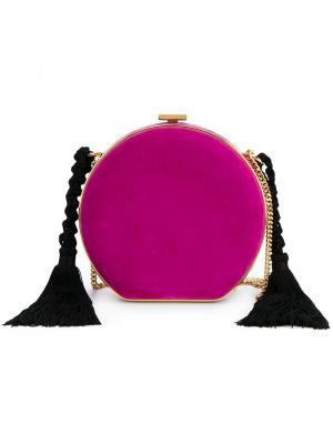 Круглый клатч с кисточками Alessandra Rich. Цвет: розовый и фиолетовый