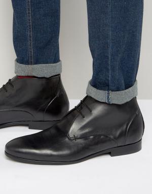 Hudson London Кожаные ботинки чукка Kender. Цвет: черный