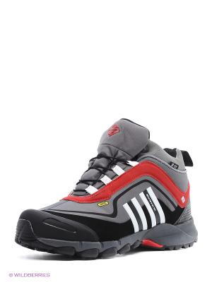 Ботинки EDITEX. Цвет: серый, красный, черный