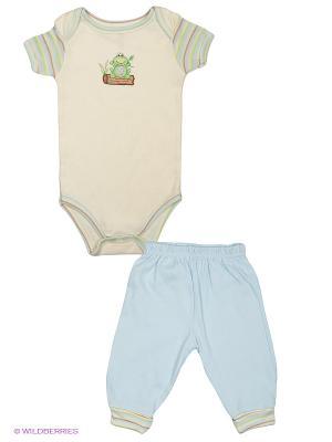Комплект Органик Hudson Baby. Цвет: голубой, кремовый