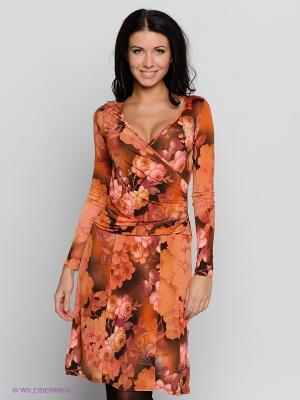 Платье Hammond. Цвет: коричневый, терракотовый
