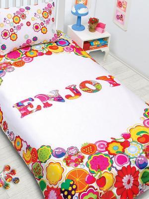 Комплект постельного белья Chupa-Chups Наслаждение Chupa Chups. Цвет: белый, красный