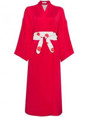Платье с запахом Hatsumomo Racil. Цвет: красный