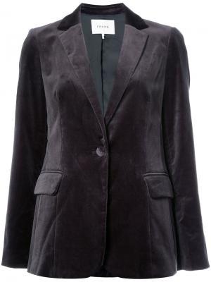 Velvet blazer Frame Denim. Цвет: серый