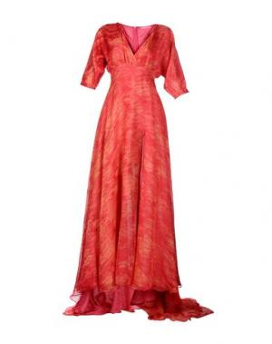 Длинное платье FRANCESCA PICCINI. Цвет: коралловый