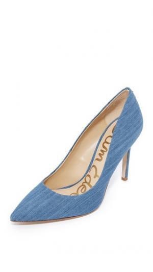 Туфли-лодочки Hazel Sam Edelman. Цвет: средне-голубой
