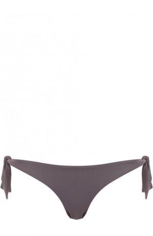 Однотонные плавки-бикини с бантами Ritratti Milano. Цвет: серый