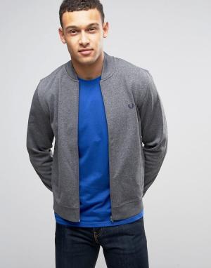 Fred Perry Серая спортивная куртка. Цвет: серый