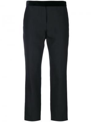 Укороченные брюки с бархатной отделкой Paul Smith. Цвет: чёрный
