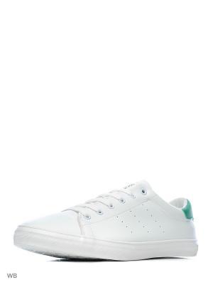 Кеды KEDDO. Цвет: белый, зеленый
