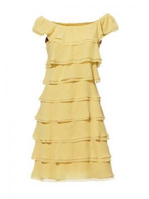 Платье из шифона CARRY ALLEN. Цвет: жёлтый