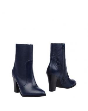Полусапоги и высокие ботинки EYE. Цвет: темно-синий