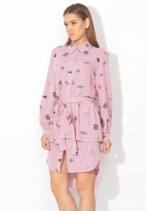 Комплект платье и юбка Tutto Bene. Цвет: розовый