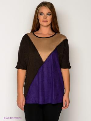 Туника МадаМ Т. Цвет: темно-коричневый, фиолетовый, бежевый