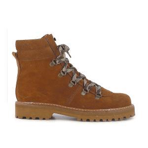 Ботинки кожаные на шнуровке JONAK. Цвет: коньячный