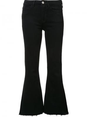 Укороченные расклешенные джинсы Mih Jeans. Цвет: чёрный