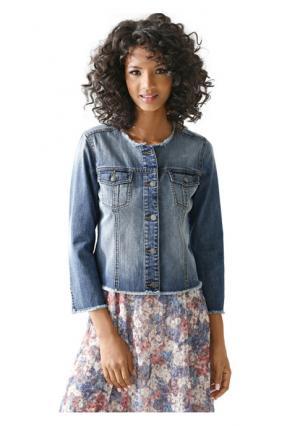Джинсовая куртка Linea Tesini. Цвет: синий деним