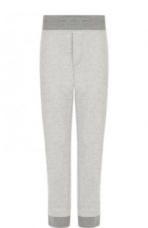 Хлопковые брюки прямого кроя James Perse. Цвет: серый