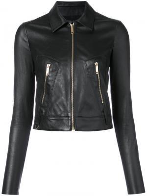 Укороченная куртка Jitrois. Цвет: чёрный