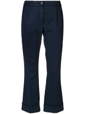 Укороченные брюки Fay. Цвет: синий