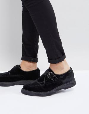 ASOS Черные бархатные монки. Цвет: черный