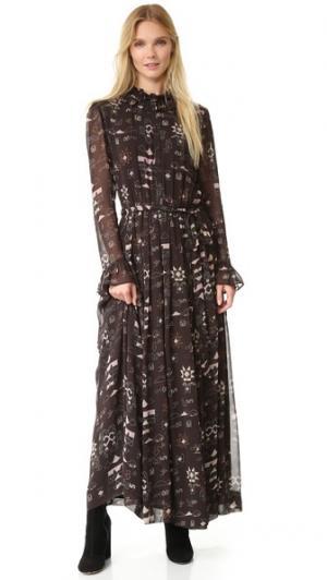 Длинное платье Chain Antik Batik. Цвет: серый
