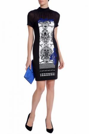 Платье XS MILANO. Цвет: черный, кружево голубое