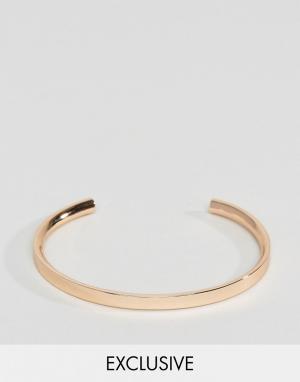 Aetherston Розово-золотистый браслет-манжет. Цвет: золотой