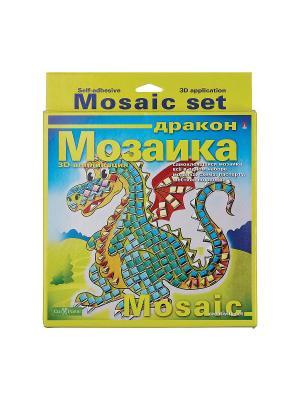 Набор декоративная мозаика  №6 дракон Альт. Цвет: зеленый