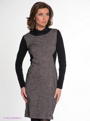Платье IMAGO. Цвет: серый, черный