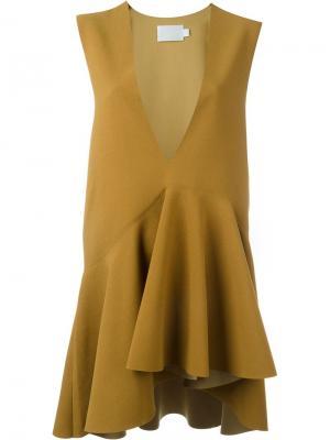 Блузка c V-образным вырезом Solace. Цвет: коричневый