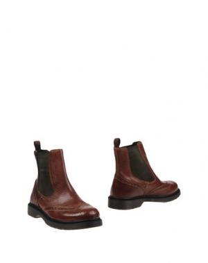 Полусапоги и высокие ботинки EMANUÉLLE VEE. Цвет: желто-коричневый