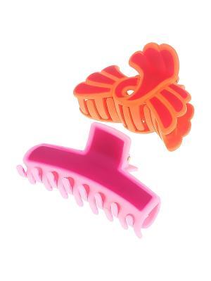 Заколка-краб, 2 шт. Migura. Цвет: розовый, оранжевый